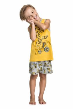 Pijama Regata e Short Trator - Quimby