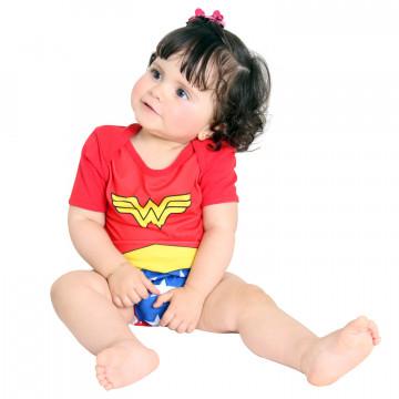 Fantasia Baby Body Mulher Maravilha - Sulamericana