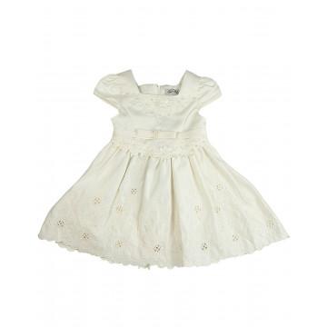 Vestido Infantil Marfim - Mini Me