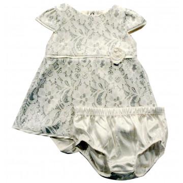 Conjunto Baby Body Vestido com Renda e Glitter - Noruega