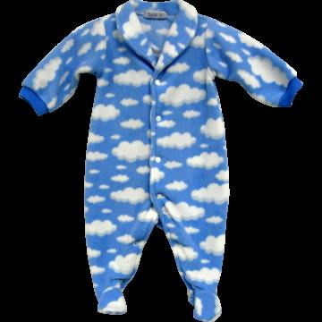 Macacão Azul Bebê Nuvens - Tyrol