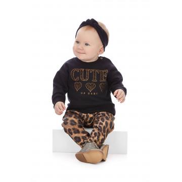 Conjunto Blusão de Moletom e Calça Neopreme Animal Print - Up Baby