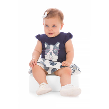 f4394b65f5 ... Conjunto Blusa Cotton e Short Saia Dog - Up Baby