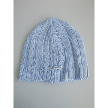 -50% Gorro Baby Em Tricot Azul Claro - Noruega ... 07a6d038aae