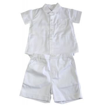 Conjunto Camisa Body e Bermuda Batizado - Noruega