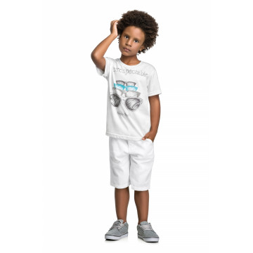 Camiseta Manga Curta Meia Malha Retrospectable - Quimby