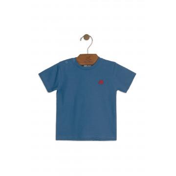 Camiseta Meia Malha Azul Jeans - Up Baby