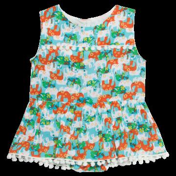 Vestido Baby Body Harmonia Elefante - Que te Encante