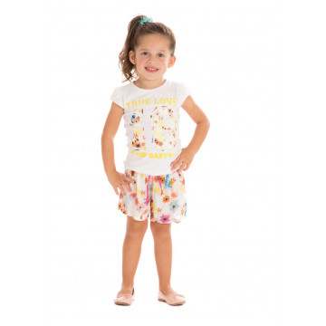 Conjunto Kids Blusa e Short True Love - Up Baby