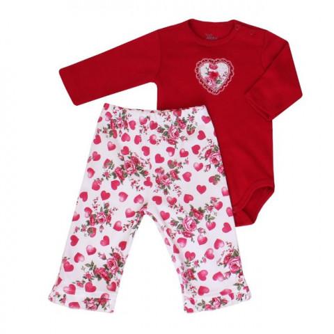 Conjunto Baby Body e Calça Corações - Anjos Baby