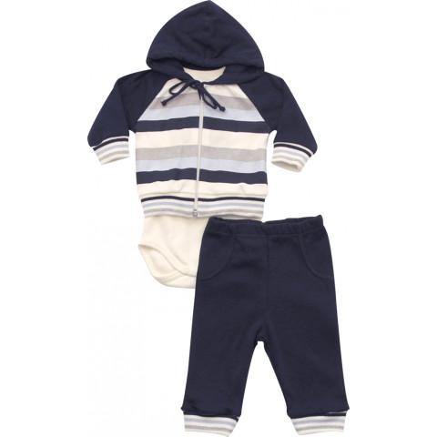 Conjunto Baby Jaqueta, Body e Calça Menino - Noruega