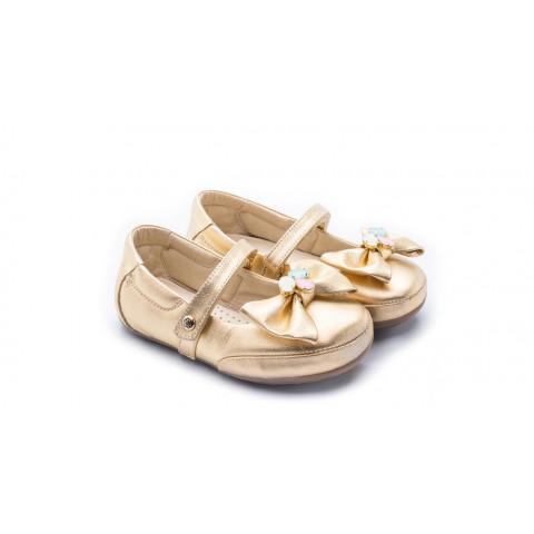 59674ffa61 Sapato Boneca Toddler Laço Pedra Cristal Dourado - Gambo