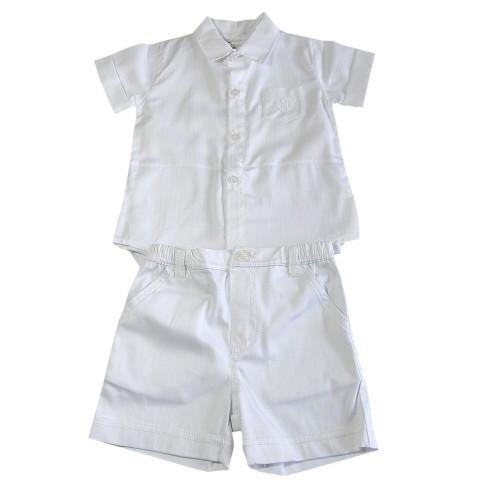 Conjunto Camisa Body e Bermuda Batizado - Noruega ed73ee39a4c6a